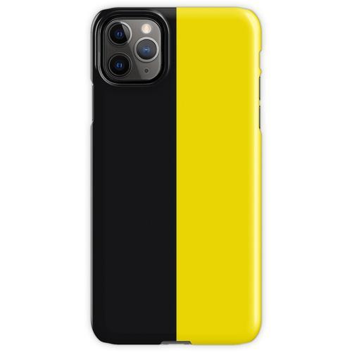 Watford Schwarzes und Gelbes Halbes Trikot iPhone 11 Pro Max Handyhülle