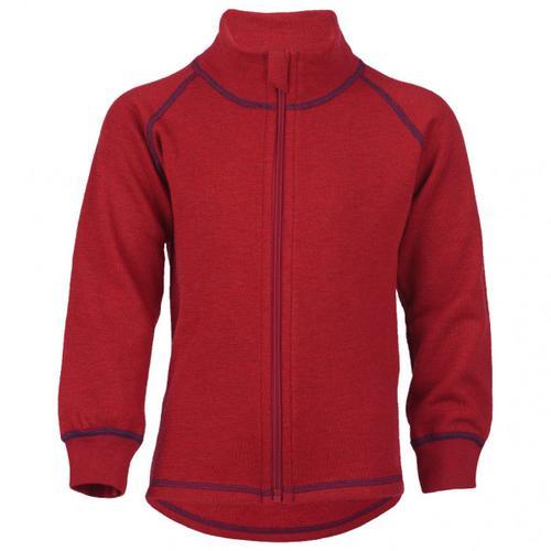 Engel - Kinder-Zip-Jacke Mit Kinnschutz - Wolljacke Gr 92 rot