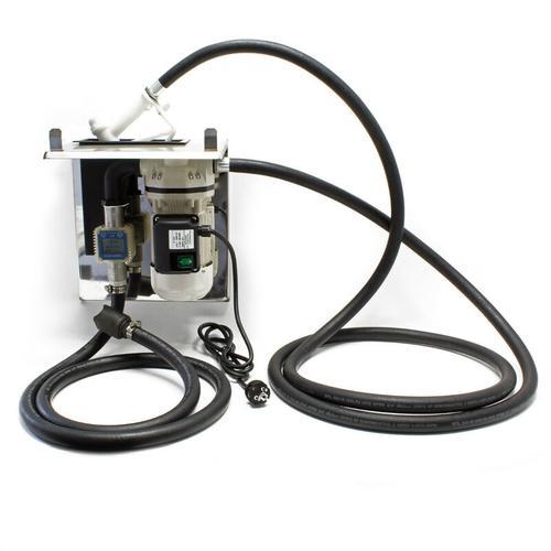 CDI-016 Adbluepumpe 230v 550w 40L/Min Selbstansaugende Adblue-Pumpe mit Durchflussmesser - Grau