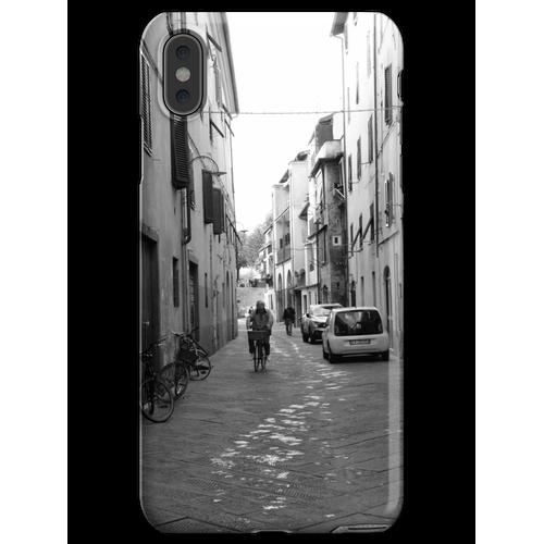 Mann auf dem Fahrrad, Lucca, Toskana, Italien iPhone XS Max Handyhülle