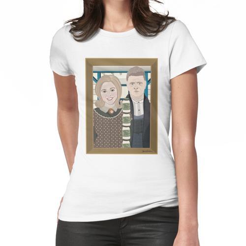 American Gothic Mit Einer Seite Von Tartar Sauce Frauen T-Shirt