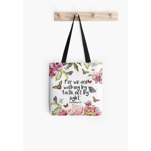 2 Corinthians 5:7 All Over Print Tote Bag