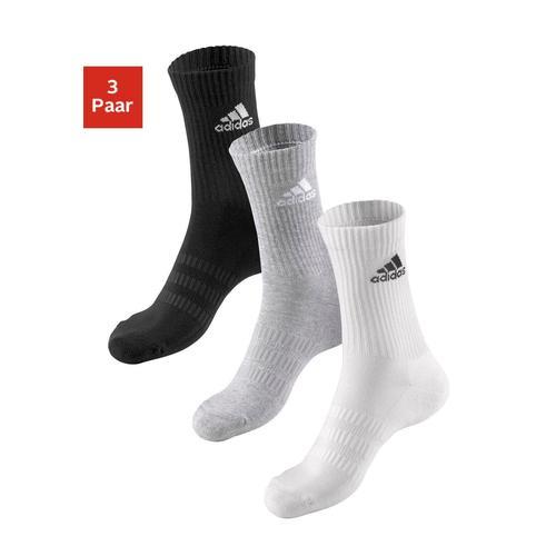 adidas Performance Tennissocken, (3 Paar), mit Vollfrottee schwarz Damen Sportsocken Socken Herrenwäsche Tennissocken