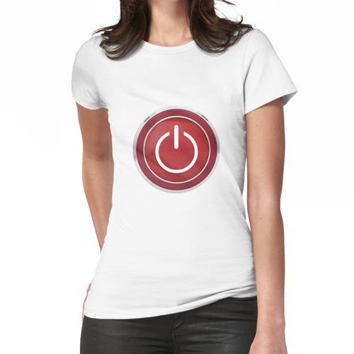 Einschaltknopf Frauen T-Shirt