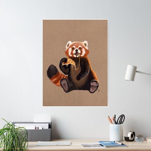 Pizza Panda Poster