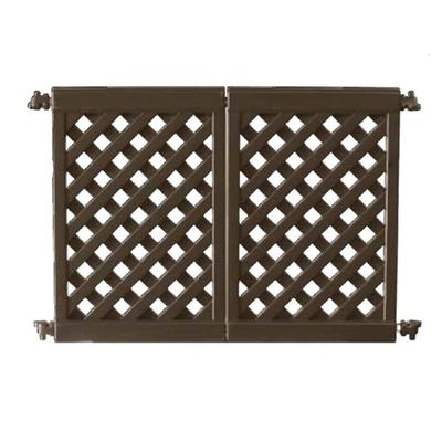 Grosfillex US962423 Two Section Interlocking Fence Panel - Resin, Brown