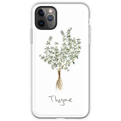 Thymian-Kraut, Thymian-Pflanze, Thymian-Druck, Thymian-Kunstdru Flexible Hülle für iPhone 11 Pro Max