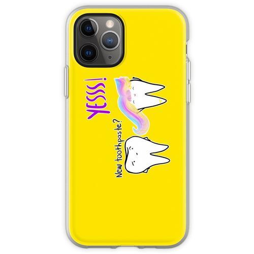 Einhorn-Zahnpasta Flexible Hülle für iPhone 11 Pro
