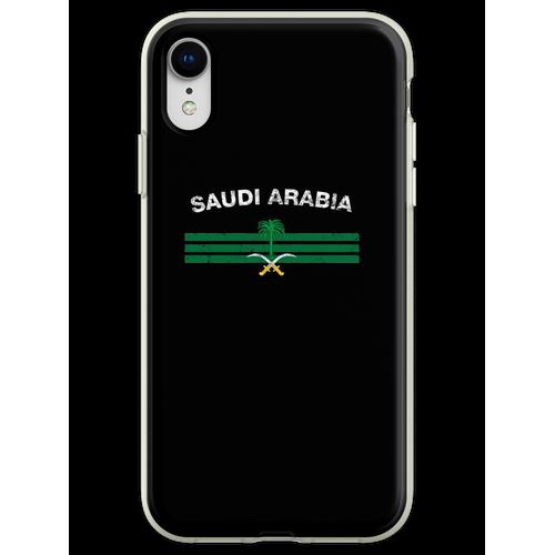 Saudisches oder saudiarabisches Flaggen-Hemd - Saudi-oder Saudi-arabisc Flexible Hülle für iPhone XR