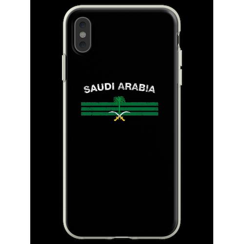 Saudisches oder saudiarabisches Flaggen-Hemd - Saudi-oder Saudi-ara Flexible Hülle für iPhone XS Max