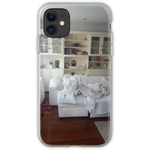 Ungemachtes Bett Flexible Hülle für iPhone 11