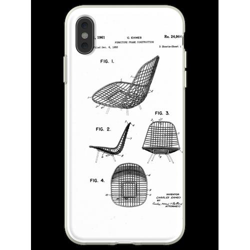 Eames - Draht Stuhl - Patent Artwork Flexible Hülle für iPhone XS Max