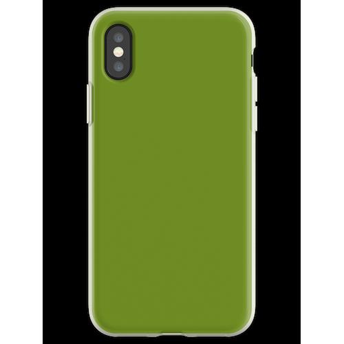 Olivfarbe Flexible Hülle für iPhone XS