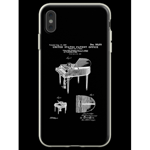 Wurlitzer Klavierpatent weiß Flexible Hülle für iPhone XS Max