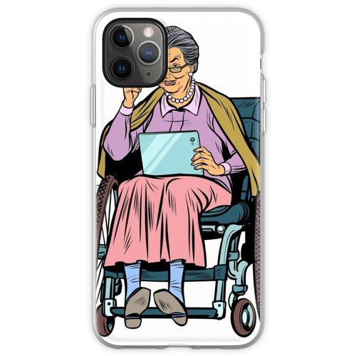 ältere Frau behinderte Person im Rollstuhl Flexible Hülle für iPhone 11 Pro Max