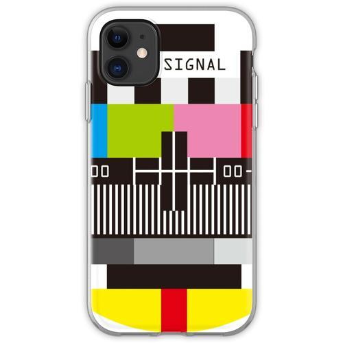 Fernseh-Testbildschirm Kein Signal Flexible Hülle für iPhone 11