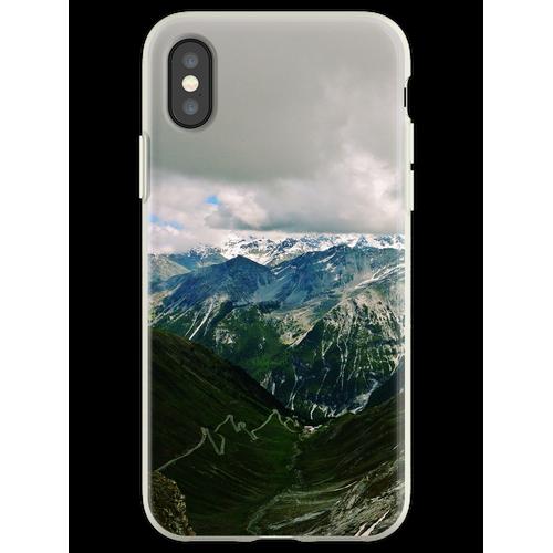 Stilfserjoch (Stilfser Joch, Stilfser Joch) Flexible Hülle für iPhone XS