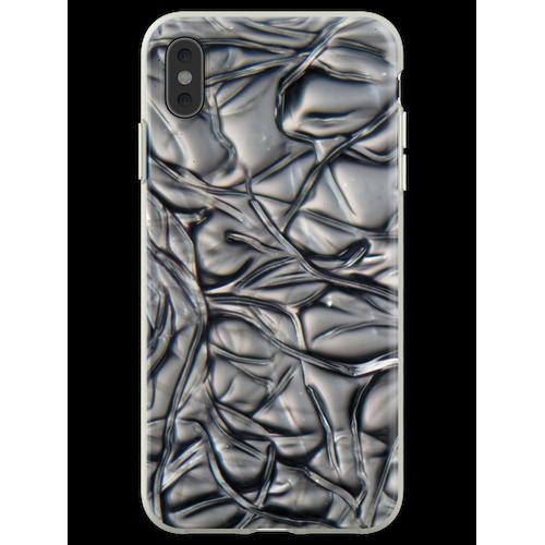 Fibers of Cellulose acetate under the microscope. Flexible Hülle für iPhone XS Max