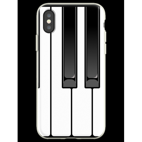 Klavier Oktave Flexible Hülle für iPhone XS
