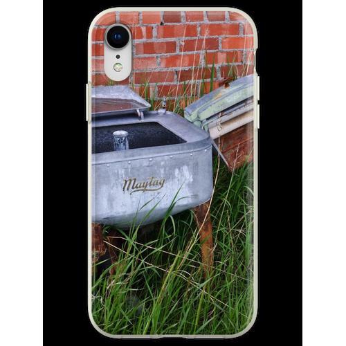 Antique Wringer Waschmaschine und Waschmaschine Flexible Hülle für iPhone XR