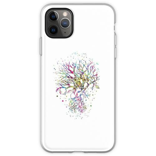 Anatomisches Herz, Baumherz, Baum wurzelte, Baum wurzelte mit I Flexible Hülle für iPhone 11 Pro Max