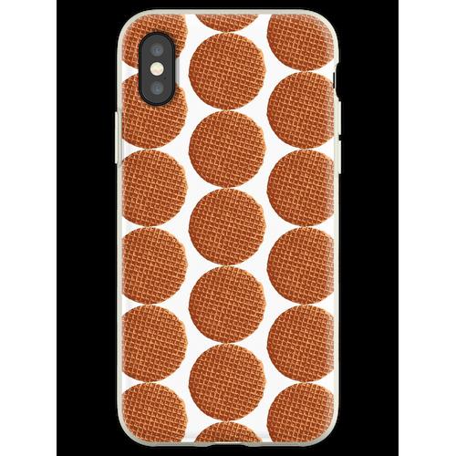 Holländische Waffel, Sirup Waffel oder de stroopwafel Flexible Hülle für iPhone XS