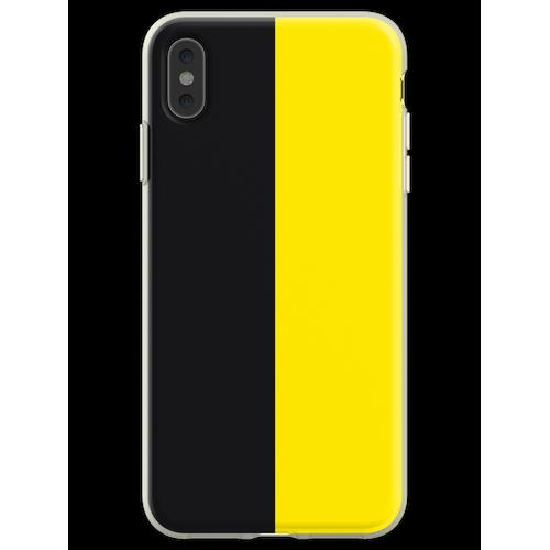 Watford Schwarzes und Gelbes Halbes Trikot Flexible Hülle für iPhone XS Max