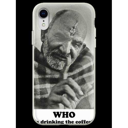 Neem Karoli Baba Papaji Kaffee Flexible Hülle für iPhone XR