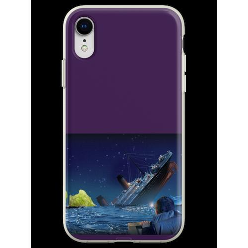 Titanic, der ein Stück Eisbergsalat schlägt Flexible Hülle für iPhone XR