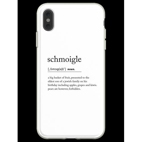 Schmoigle. Flexible Hülle für iPhone XS Max