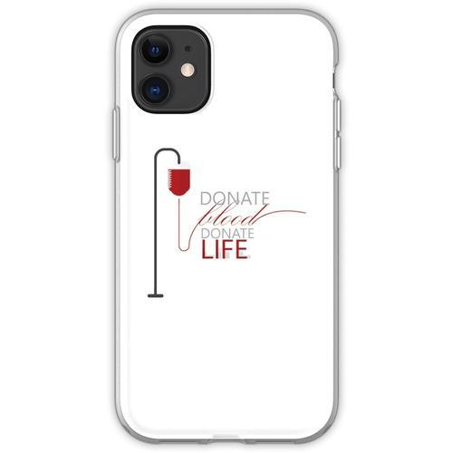Spenden Blut spenden Leben - Weltblutspendetag Organspender Blutspende Flexible Hülle für iPhone 11