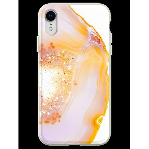 Rosa Geode Achat Kristall Flexible Hülle für iPhone XR