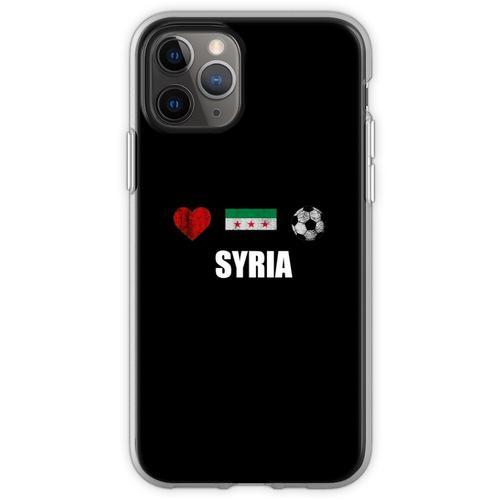 Syrien Fußballtrikot - Syrien Fußballtrikot Flexible Hülle für iPhone 11 Pro