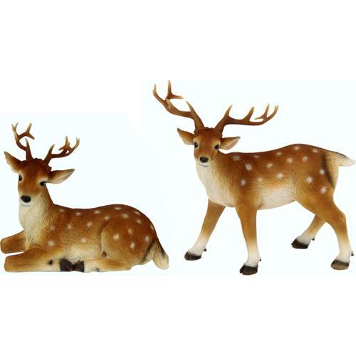 I.GE.A. Tierfigur Reh beige Tierfiguren Figuren Skulpturen Wohnaccessoires