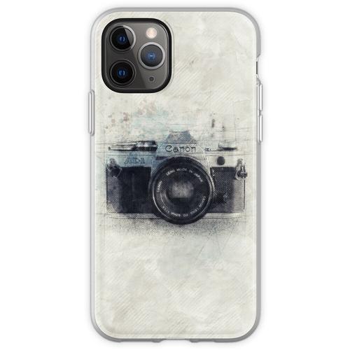 Canon Kunst, Canon Kamera, Canon Dekor, Kamera, Vintage Canon, Kame Flexible Hülle für iPhone 11 Pro