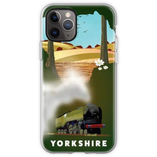 Yorkshire-Eisenbahnplakat Flexible Hülle für iPhone 11 Pro