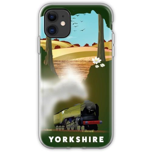 Yorkshire-Eisenbahnplakat Flexible Hülle für iPhone 11