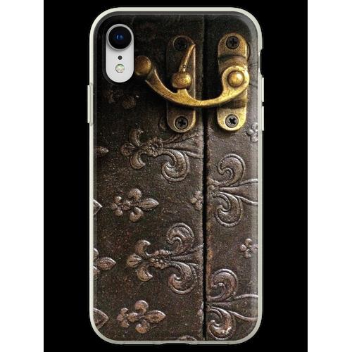 Rustick Antikes Fleur-De-Lis Leder und Schloss Design Flexible Hülle für iPhone XR