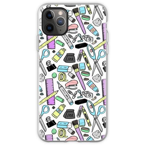 Künstlerbedarf Muster Flexible Hülle für iPhone 11 Pro Max
