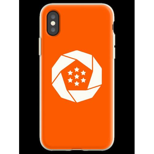 Erusische Flagge Flexible Hülle für iPhone XS