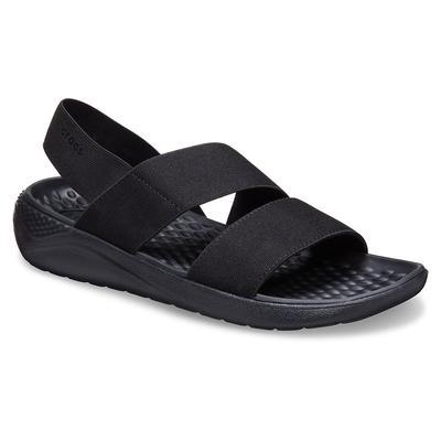 Crocs Black / Black Women's Literide™ Stretch Sandal Shoes