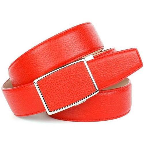 Anthoni Crown Ledergürtel, in Orange, mit genarbter Oberfläche, klassisches Design rot Damen Ledergürtel Gürtel Accessoires