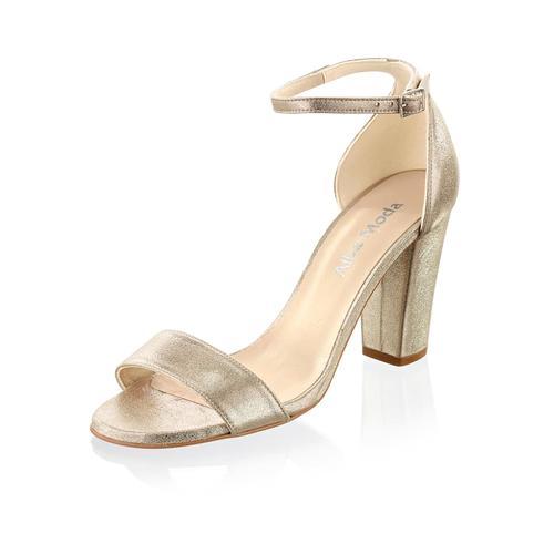 Alba Moda, Sandalette aus hochwertigem Ziegenleder, silber