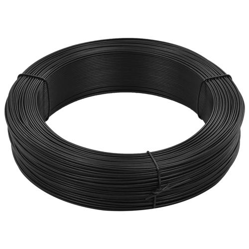 vidaXL Zaun-Bindedraht 250 m 2,3/3,8 mm Stahl Anthrazit
