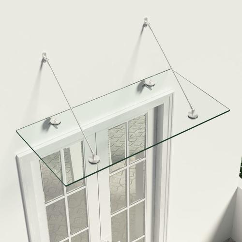 vidaXL VSG-Sicherheitsglas Haustür-Vordach 120×60 cm Edelstahl