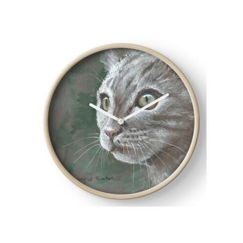 Atemberaubende Katze Uhr