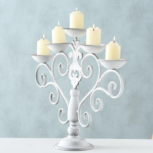 BOLTZE Kerzenhalter Malou weiß Kerzen Laternen Wohnaccessoires