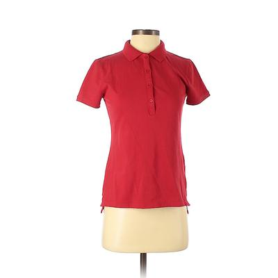 Old Navy Short Sleeve Polo Shirt: Red Solid Tops - Size X-Small