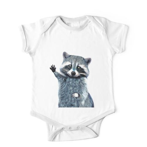 Waschbär Hemd-Kühles Natur-Waschbär-T-Stück Netter Waschbär Kinderbekleidung