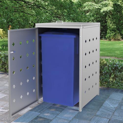 vidaXL Mülltonnenbox für 1 Tonne 240 L Edelstahl